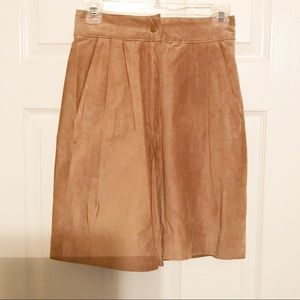 Sueded Leather Shorts